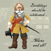 Warts & All Funny Olde Worlde Birthday Card