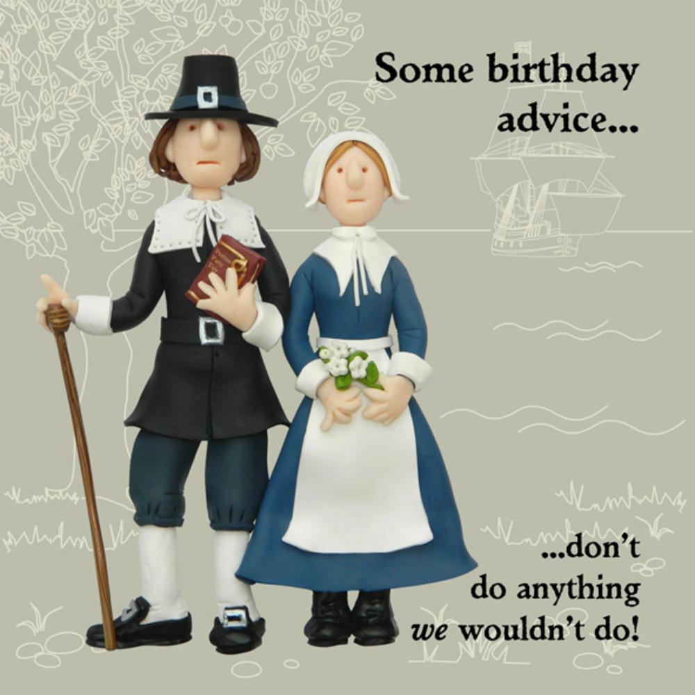 Birthday Advice Funny Olde Worlde Birthday Card