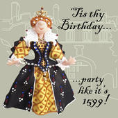 Tis Thy Birthday Funny Olde Worlde Birthday Card