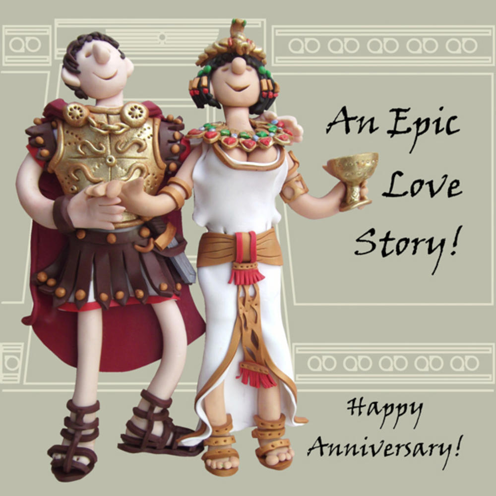 Epic Love Story Funny Olde Worlde Anniversary Card