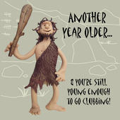 Another Year Older Funny Olde Worlde Birthday Card