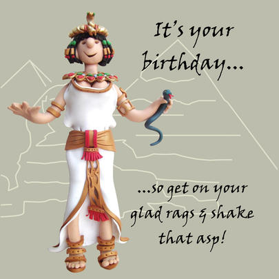 Shake That Asp Funny Olde Worlde Birthday Card