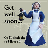 Get Well Soon Funny Olde Worlde Card