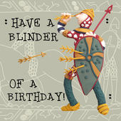 Have A Blinder Funny Olde Worlde Birthday Card