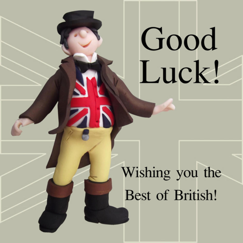 Best Of British Funny Olde Worlde Good Luck Card