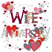 Lovely Wife Wedding Anniversary Greeting Card