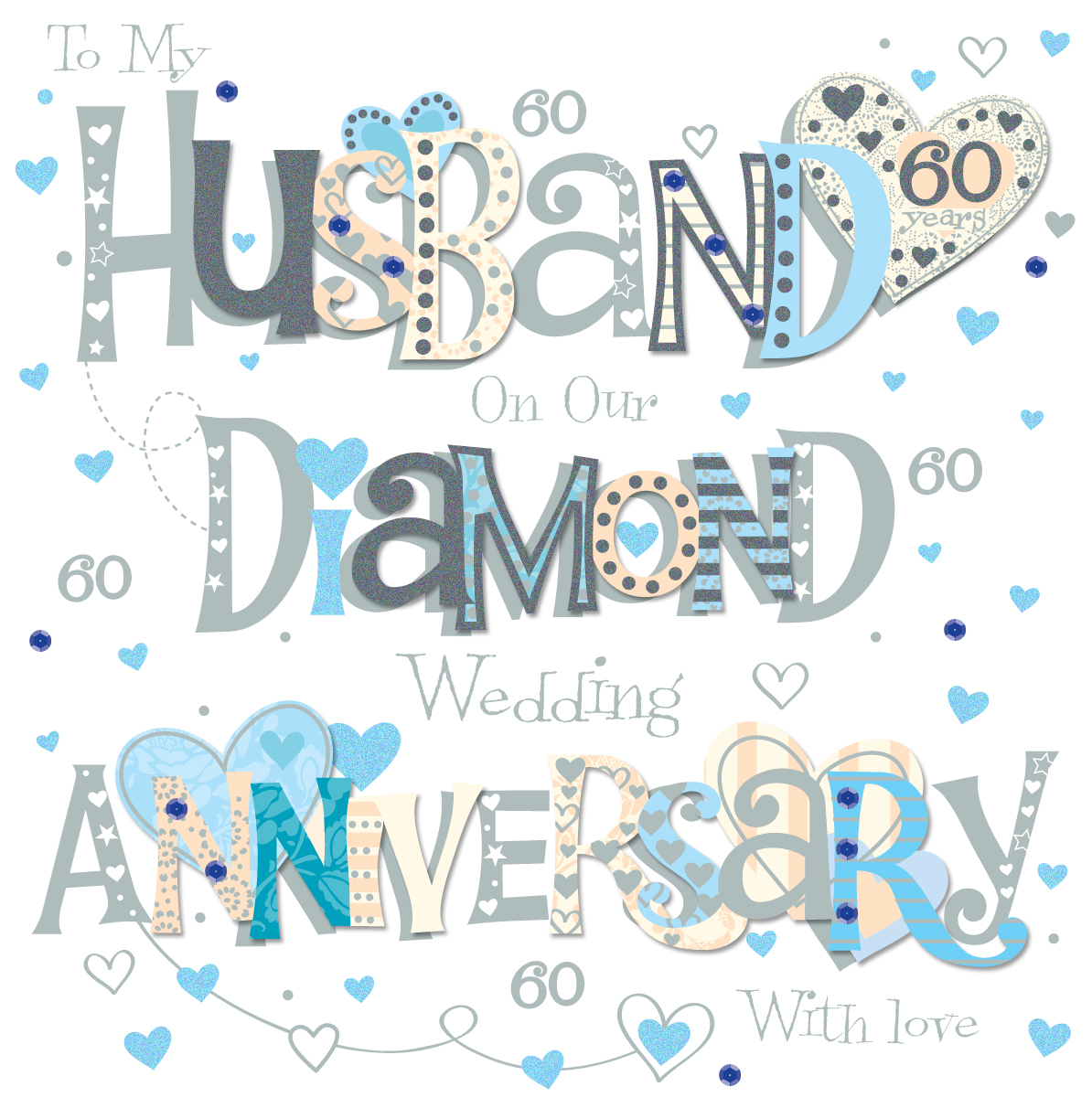 Husband diamond 60th wedding anniversary greeting card cards husband diamond 60th wedding anniversary greeting card kristyandbryce Choice Image