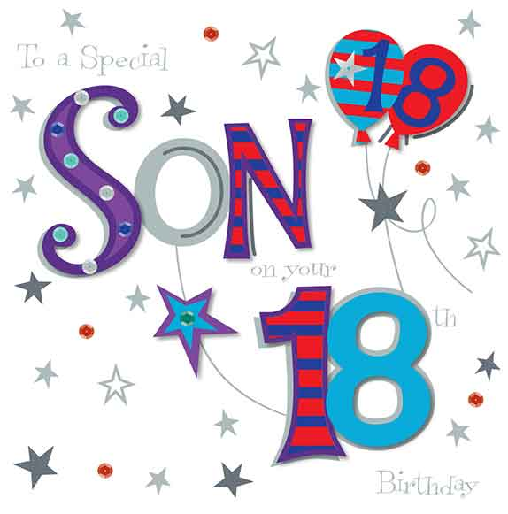 Son On Your 18th Birthday Greeting Card