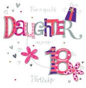 Daughter On Your 18th Birthday Greeting Card