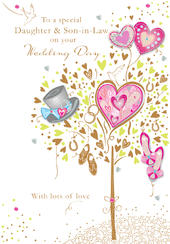 Daughter & Son-in-Law Wedding Day Greeting Card