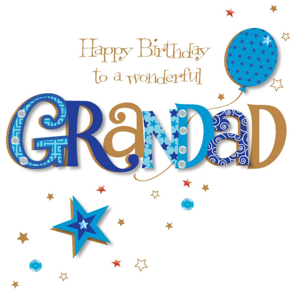 Wonderful Grandad Happy Birthday Greeting Card