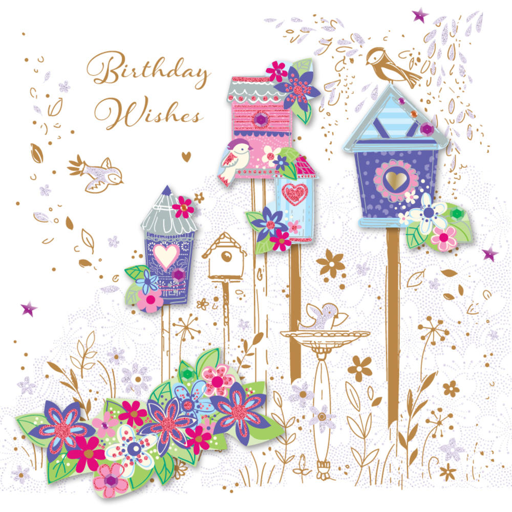 Pretty birds birthday wishes greeting card cards love kates pretty birds birthday wishes greeting card m4hsunfo