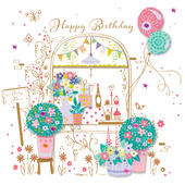 Party Here Pretty Happy Birthday Greeting Card
