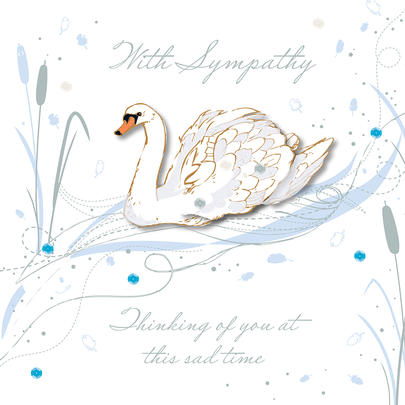 With Sympathy At This Sad Time Embellished Greeting Card