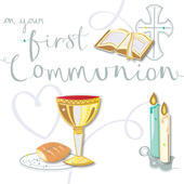 On Your First Communion Greeting Card