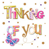 Pretty Thinking Of You Greeting Card