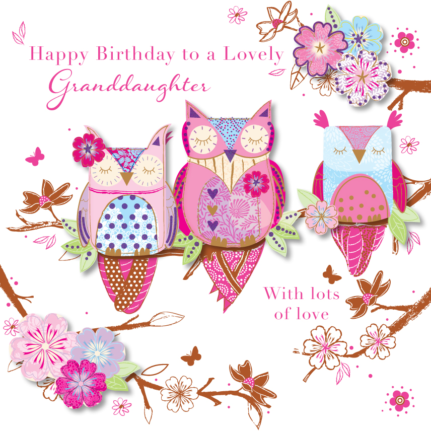 Lovely Granddaughter Happy Birthday Greeting Card | Cards ...