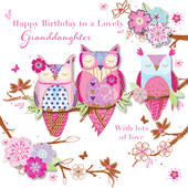 Lovely Granddaughter Happy Birthday Greeting Card