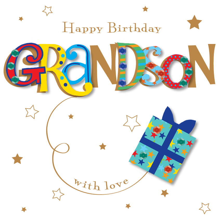 Grandson Happy Birthday Greeting Card | Cards | Love Kates