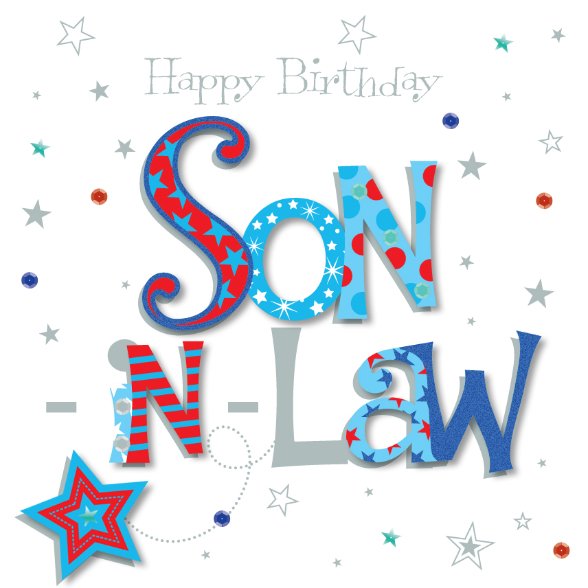 SonInLaw Happy Birthday Greeting Card Cards – Happy Birthday Card Son