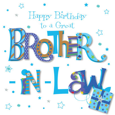 Great Brother-In-Law Happy Birthday Greeting Card