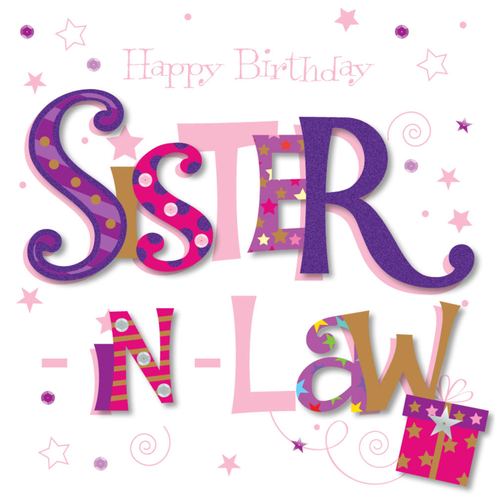 Sister In Law Happy Birthday Greeting Card