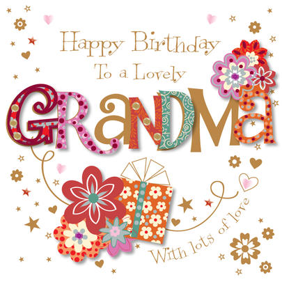 Lovely Grandma Happy Birthday Greeting Card