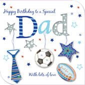 Special Dad Happy Birthday Greeting Card