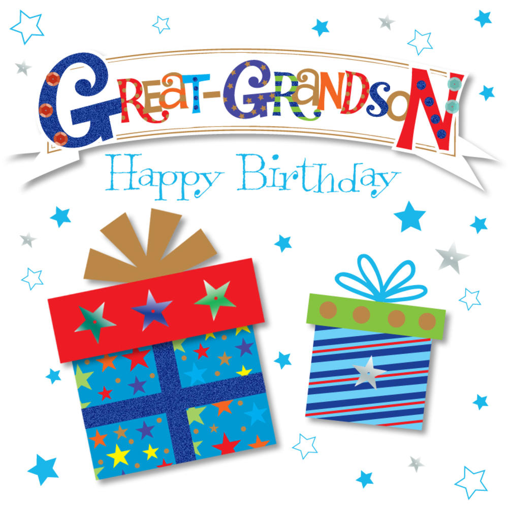 Great-Grandson Happy Birthday Greeting Card
