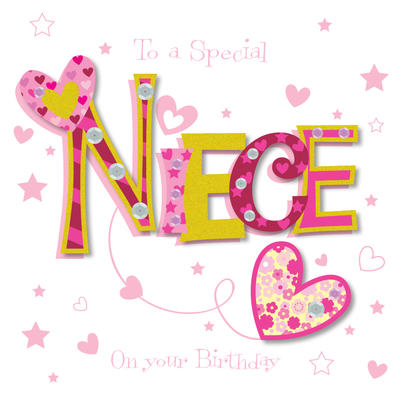 Special Niece Happy Birthday Greeting Card