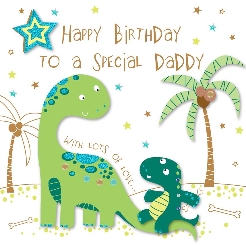Special Daddy Happy Birthday Greeting Card