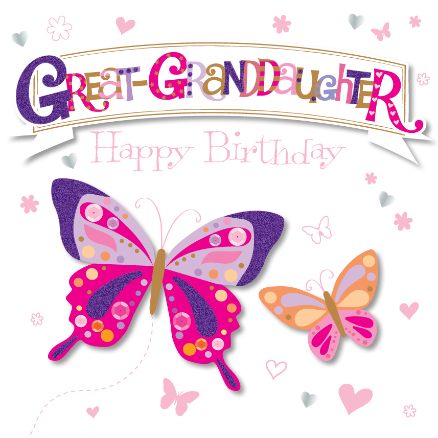 Great-Granddaughter Happy Birthday Greeting Card By ...