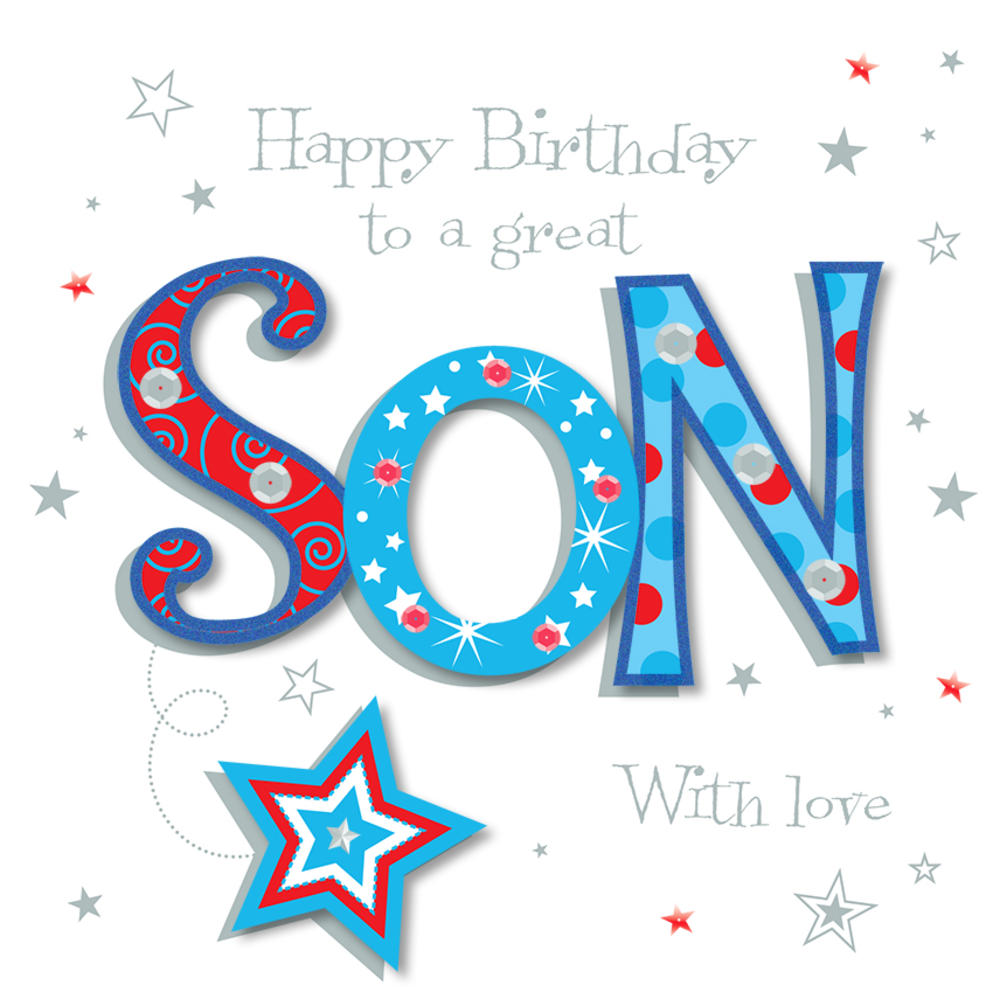 Great Son Happy Birthday Greeting Card Cards Love Kates