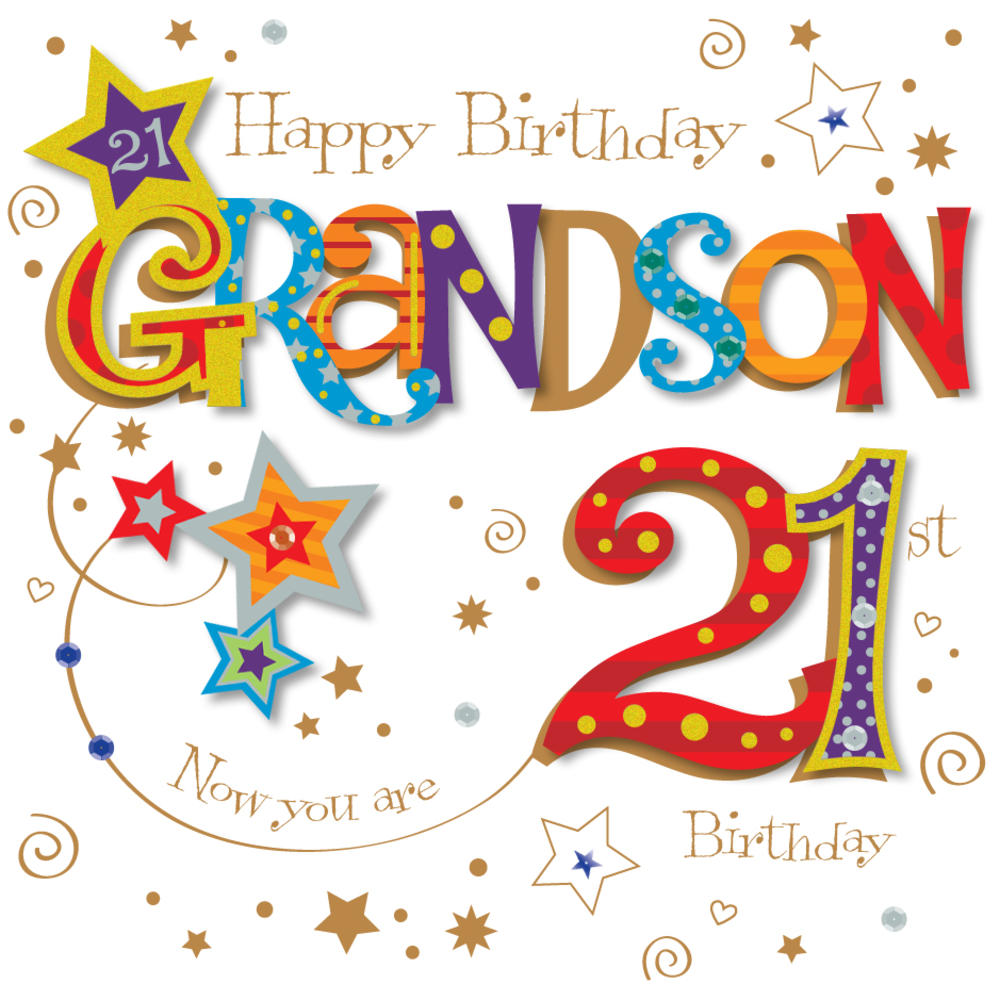Grandson 21st birthday greeting card cards love kates grandson 21st birthday greeting card bookmarktalkfo Image collections