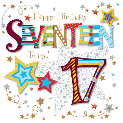 Seventeen Today 17th Birthday Greeting Card