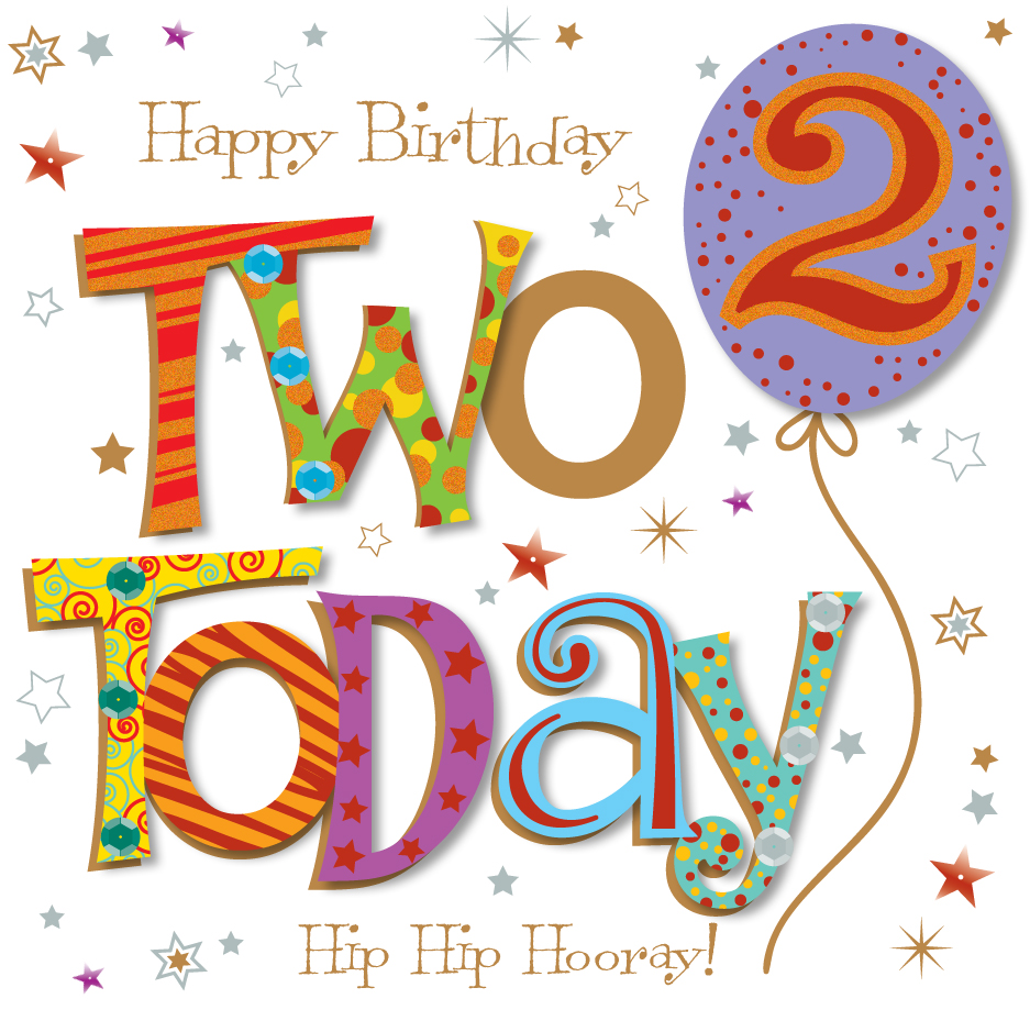 Two Today 2nd Birthday Greeting Card