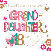 Granddaughter 18th Birthday Greeting Card