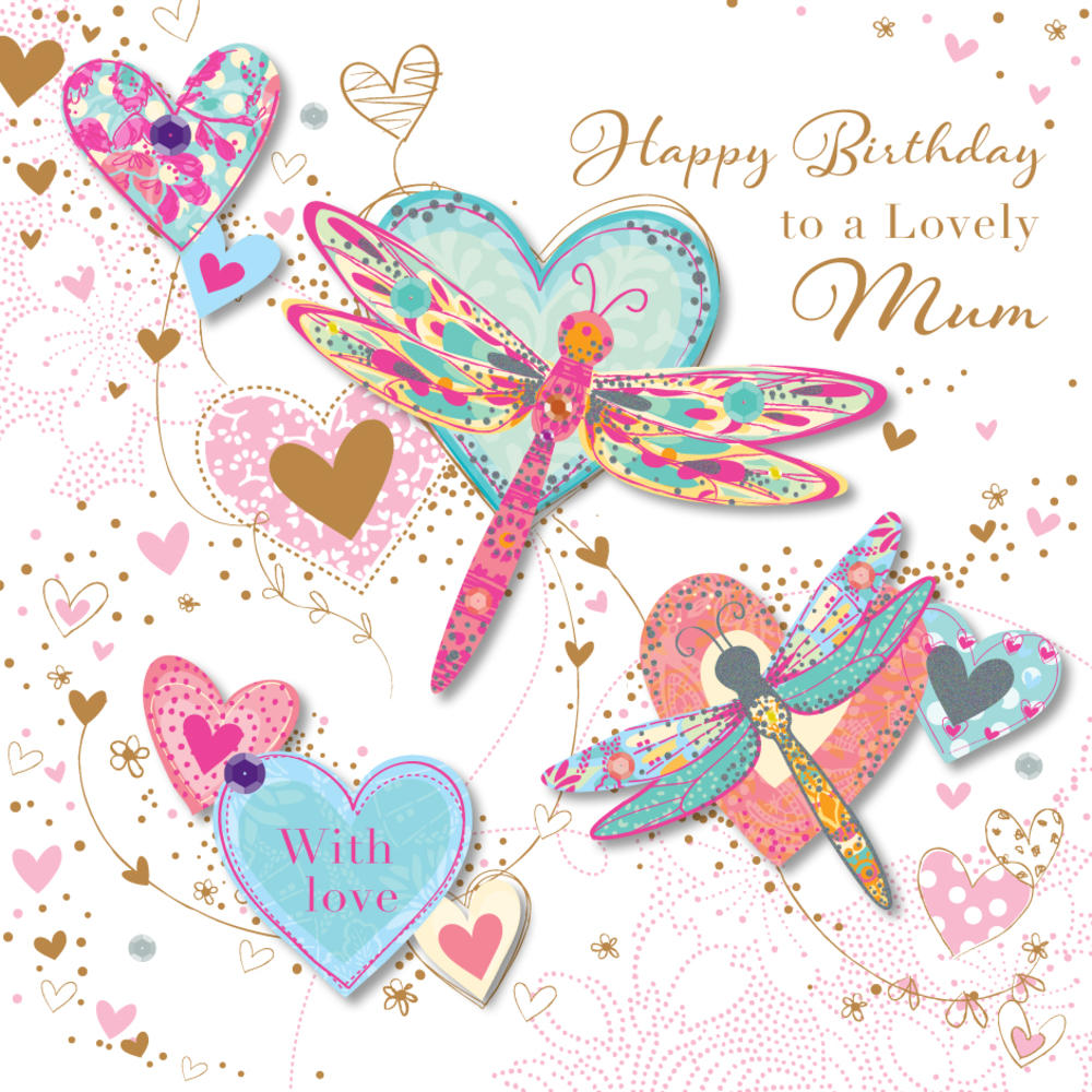 Lovely Mum Birthday Greeting Card