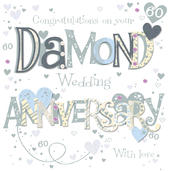 On Your Diamond 60th Anniversary Greeting Card