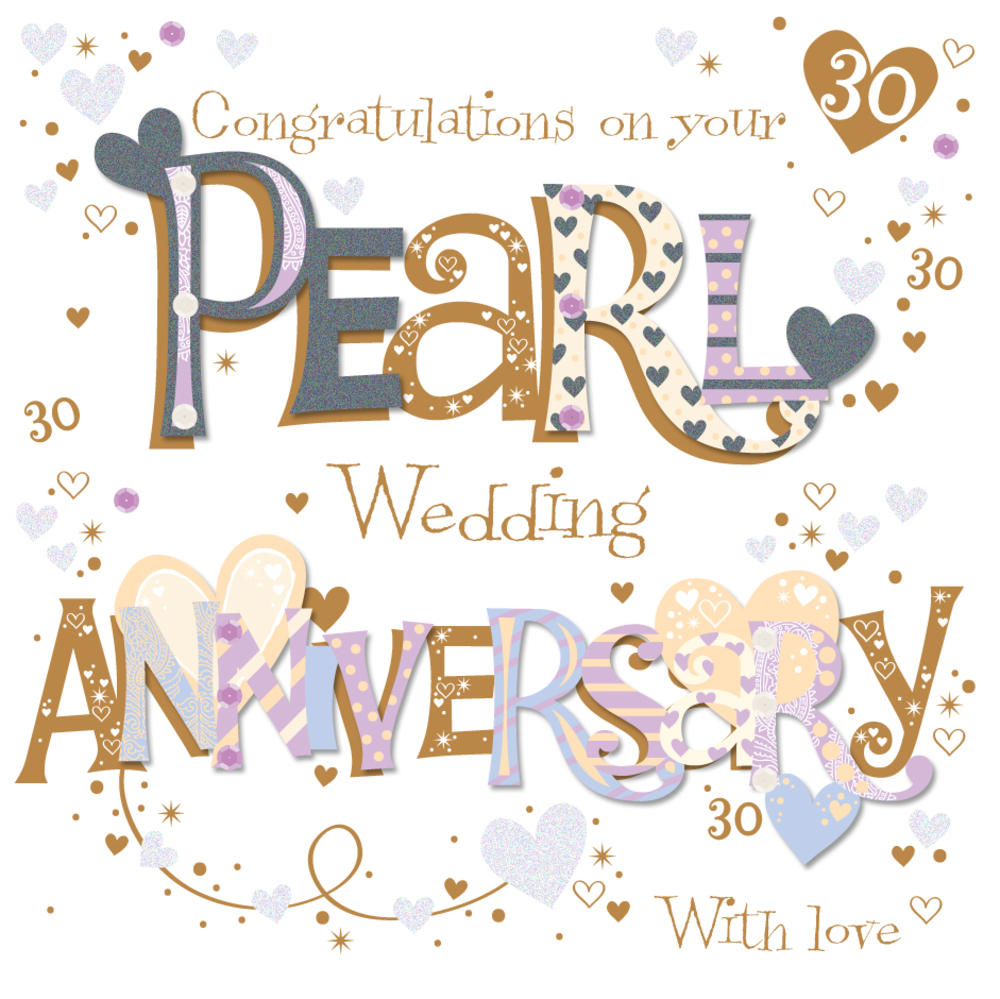 What Is The 30th Wedding Anniversary Gift: On Your Pearl 30th Anniversary Greeting Card