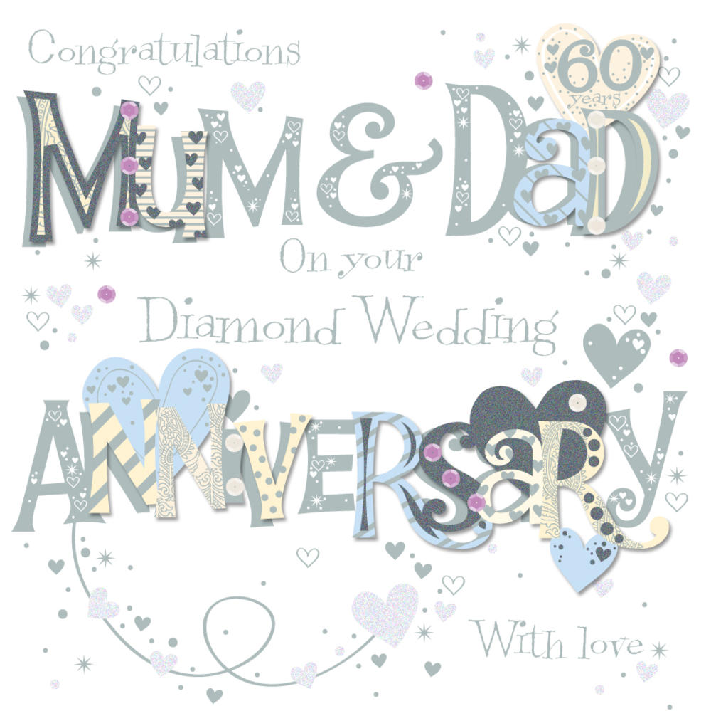 Mum dad diamond 60th wedding anniversary greeting card cards mum dad diamond 60th wedding anniversary greeting card kristyandbryce Choice Image