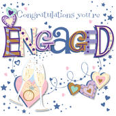 Congratulations You're Engaged Greeting Card