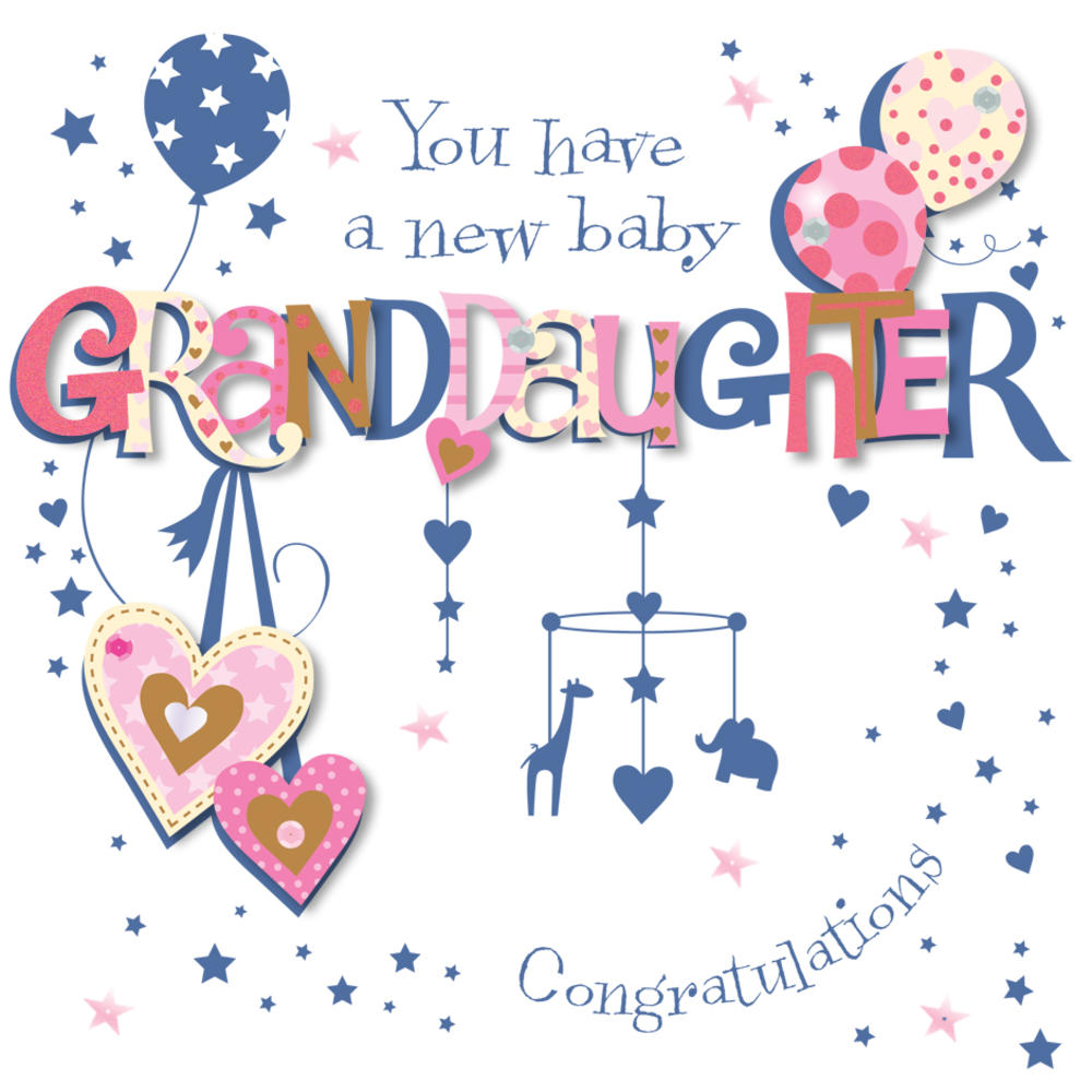 new baby granddaughter congratulations greeting card cards love