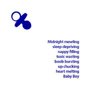 Heart Melting New Baby Boy Greeting Card
