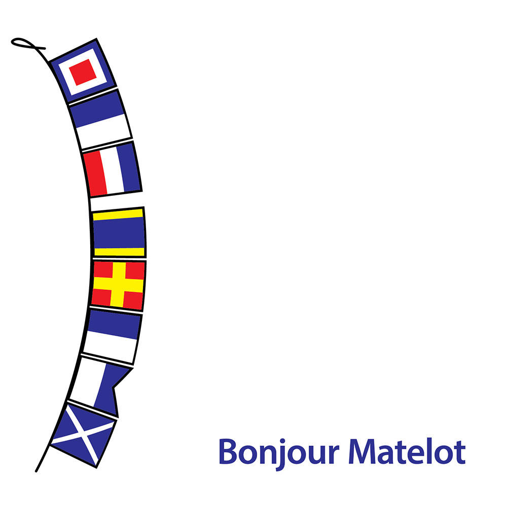 Bonjour Matelot Hello Sailor Greeting Card