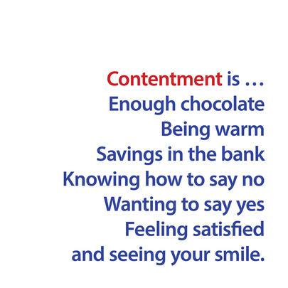 Contentment Is... Greeting Card