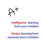 Intelligence V's Genius Greeting Card
