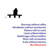 Me Without You Greeting Card