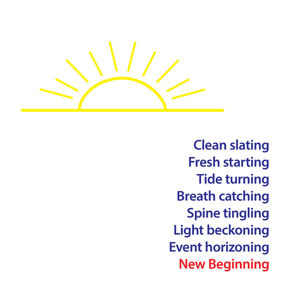 Clean Slating New Beginning Greeting Card