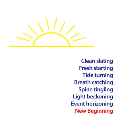 Clean Slating New Beginning Greeting Card